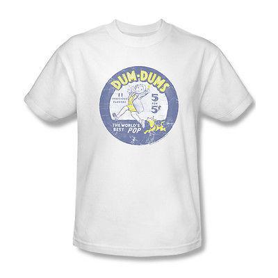 Dum-Dums T shirt distressed retro candy logo vintage cotton graphic tee DUM110