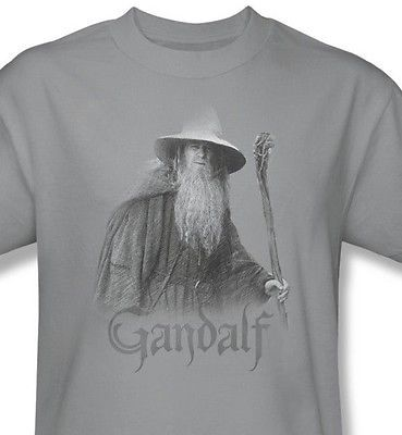 Lord Rings Gandalf  Great T shirt movie graphic printed 100% cotton tee LOR1017