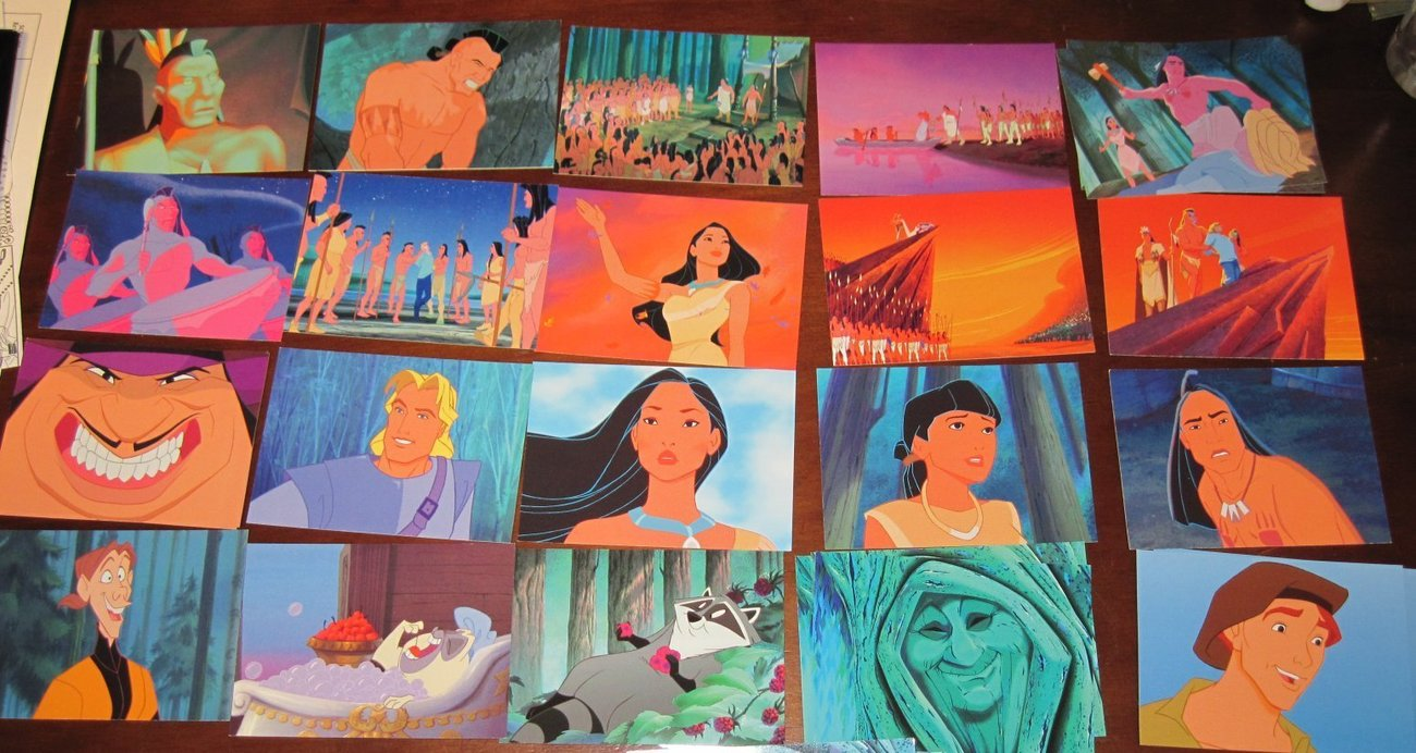 Disney Pocahontas Trading Cards Series Lot + wrapper Puzzle Pictures Rare!