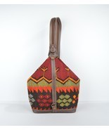 Vintage Kilim Bags, Carpet Bag, Leather  wol bag,  - $159.00