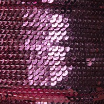 Sequin Stitched Trim 4mm ~ Deep Candy Pink Shiny Metallic ~ Made in USA - $10.97