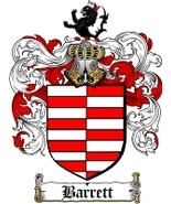 Barrett Family Crest / Coat of Arms JPG or PDF Image Download - $6.99