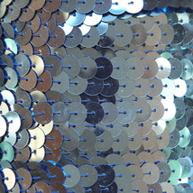 Sequin Trim Light Blue Metallic 8mm flat strung by the yard. Made in USA. - $9.97