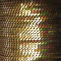 Sequin Stitched Trim 4mm ~ Gold Iris Rainbow Iridescent Metallic ~ Made in USA - $10.97