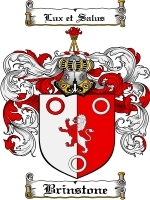 Primary image for Brinstone Family Crest / Coat of Arms JPG or PDF Image Download