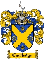Primary image for Cartledge Family Crest / Coat of Arms JPG or PDF Image Download
