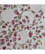 20mm Round SEQUIN PAILLETTES ~ Spring Flowers Petite Fleur Floral Print on White - $11.97