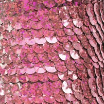 Sequin Trim Pink Hologram Reflective 8mm flat strung by the yard. Made in USA. - $9.97