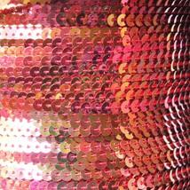 Sequin Stitched Trim 4mm ~ Red Rose Gold Iris Rainbow Iridescent Metallic - $10.97