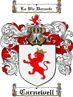Primary image for Carnewell Family Crest / Coat of Arms JPG or PDF Image Download