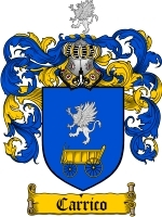 Primary image for Carrico Family Crest / Coat of Arms JPG or PDF Image Download