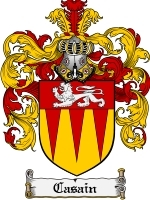 Primary image for Casain Family Crest / Coat of Arms JPG or PDF Image Download