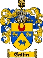 Primary image for Catlin Family Crest / Coat of Arms JPG or PDF Image Download