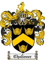 Primary image for Challoner Family Crest / Coat of Arms JPG or PDF Image Download