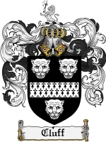 Primary image for Cluff Family Crest / Coat of Arms JPG or PDF Image Download