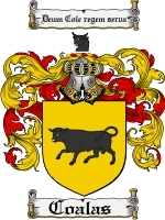 Coalas Family Crest / Coat of Arms JPG or PDF Image Download