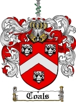 Primary image for Coals Family Crest / Coat of Arms JPG or PDF Image Download