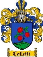 Primary image for Colletti Family Crest / Coat of Arms JPG or PDF Image Download