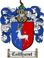 Primary image for Colthurst Family Crest / Coat of Arms JPG or PDF Image Download