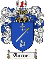 Primary image for Corner Family Crest / Coat of Arms JPG or PDF Image Download