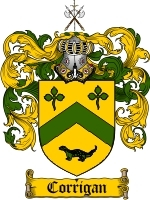 Corrigan Family Crest / Coat of Arms JPG or PDF Image Download