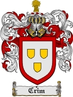 Primary image for Crim Family Crest / Coat of Arms JPG or PDF Image Download