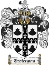 Croiceman Family Crest / Coat of Arms JPG or PDF Image Download - $6.99