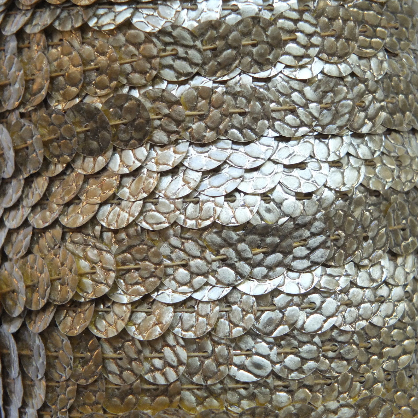 Sequin Trim Gold Nugget Snakeskin 8mm flat strung by the ...