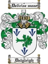 Dalgleigh Family Crest / Coat of Arms JPG or PDF Image Download - $6.99