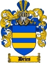 Dries Family Crest / Coat of Arms JPG or PDF Image Download - $6.99