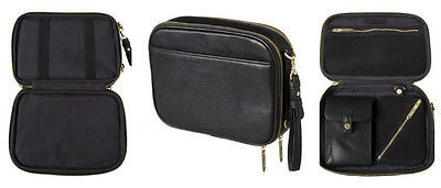 NEW! 3.1 Phillip Lim Mens Travel Organizer Toiletry Tablet Bag Black Leather