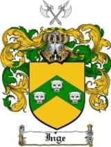 Inge Family Crest / Coat of Arms JPG or PDF Ima... - $6.99