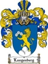 Langenberg Family Crest / Coat of Arms JPG or PDF Image Download - $6.99