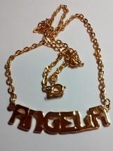 beautiful name pendant-angela in gold tone - $1.99