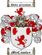 Mccamley Family Crest / Coat of Arms JPG or PDF Image Download - $6.99