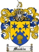 Meakin Family Crest / Coat of Arms JPG or PDF Image Download - $6.99