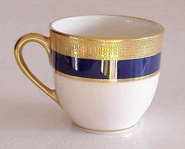 Retired Lenox Porcelain Gold & Cobalt Demitasse... - $50.00