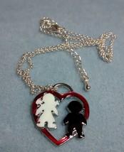 beautiful heart pendant-silver plated - $1.99