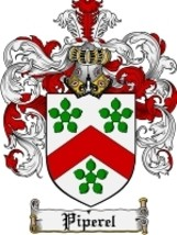 Piperel Family Crest / Coat of Arms JPG or PDF Image Download - $6.99
