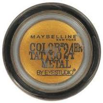 Maybelline Eye Studio Color Tattoo Metal Eye Shadow, Gold Rush 65 - $8.32