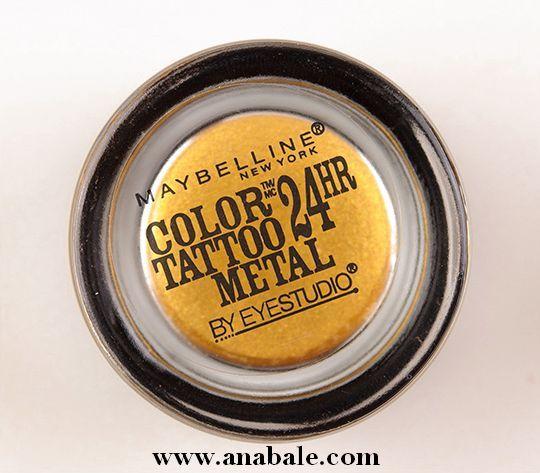 Maybelline Eye Studio Color Tattoo Metal Eye Shadow, Gold Rush 65