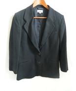 Vintage LL Bean Black Women's Blazer Wool\Cashmere Size 10 Made in USA - $36.99