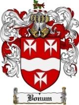 Bonum Family Crest / Coat of Arms JPG or PDF Image Download - $6.99