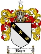 Boyce Family Crest / Coat of Arms JPG or PDF Image Download - $6.99
