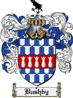 Primary image for Bushby Family Crest / Coat of Arms JPG or PDF Image Download