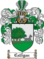 Primary image for Calligan Family Crest / Coat of Arms JPG or PDF Image Download