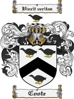 Primary image for Coote Family Crest / Coat of Arms JPG or PDF Image Download