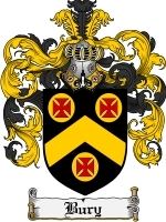 Primary image for Bury Family Crest / Coat of Arms JPG or PDF Image Download