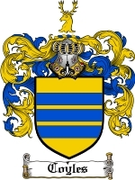 Primary image for Coyles Family Crest / Coat of Arms JPG or PDF Image Download