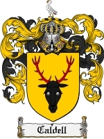 Primary image for Caldell Family Crest / Coat of Arms JPG or PDF Image Download